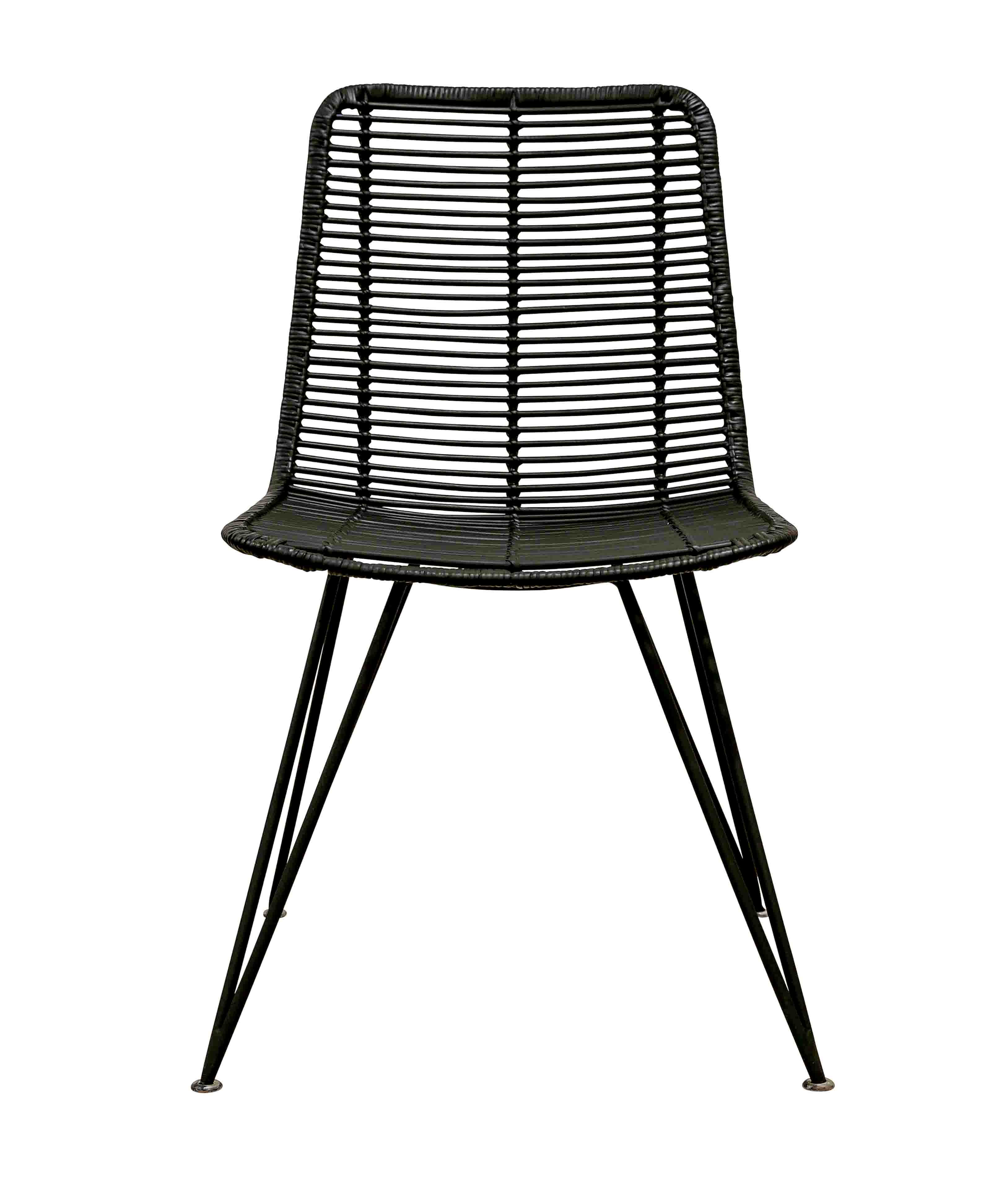 Wicker Dining Chair MICKEY Synthetic Rattan