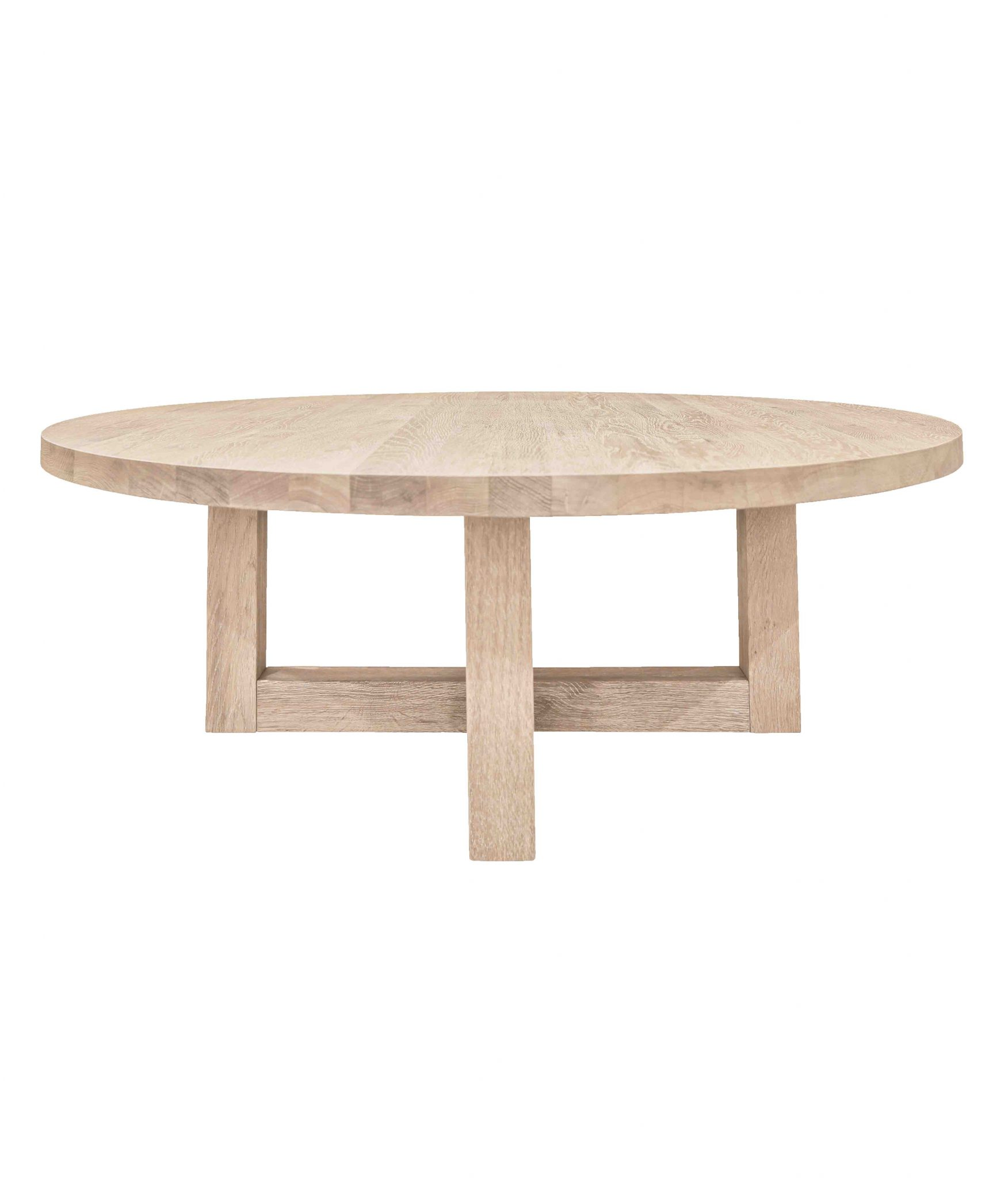 Round Coffee Table Oak: Solid Oak Round Coffee Table