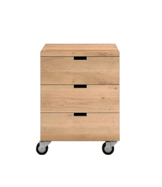 Oak Office Box Billy 3 Draw