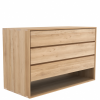 Oak Nordic Chest of Draws 3 Draw