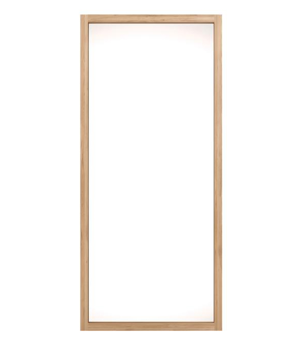 Oak Light Mirror