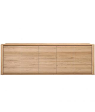 Oak Shadow Sideboard 5 Doors
