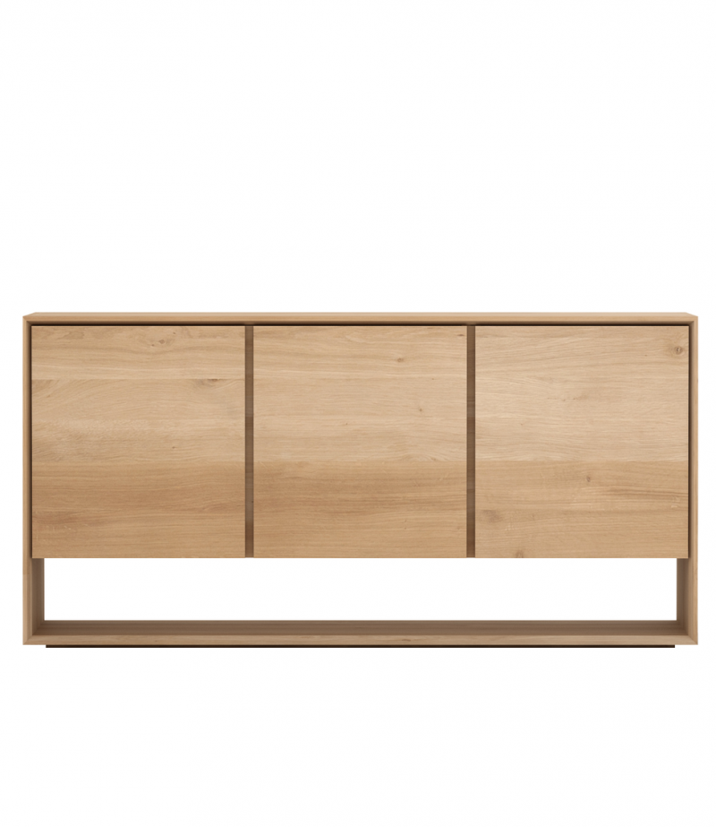 Oak Nordic Sideboard 3 Opening Door