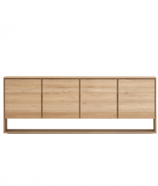 Oak Nordic Sideboard 4 Opening Doors
