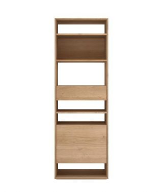 Oak Nordic Bookcase 1 Opening Door – 1 Draw