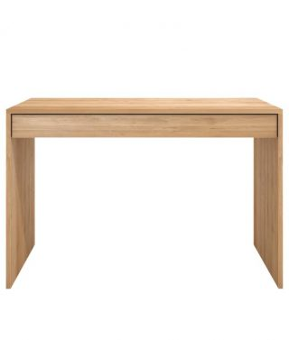Oak Wave Office Console 1 Draw