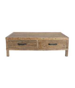 rectangle recycled elm coffee table