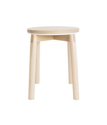 aluminum rim stool white