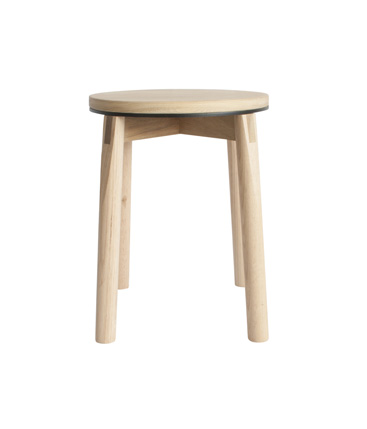aluminum rim stool black