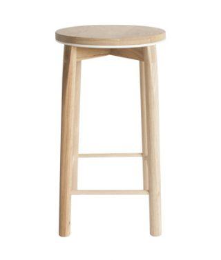 aluminum rim bar stool white
