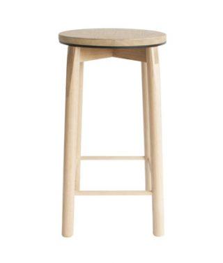 aluminum rim bar stool black