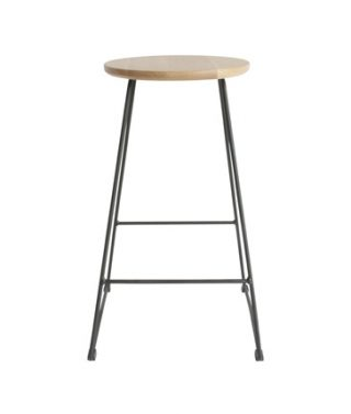 American oak stool black