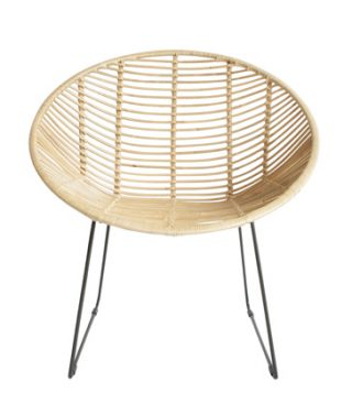 Rattan occasional armchair