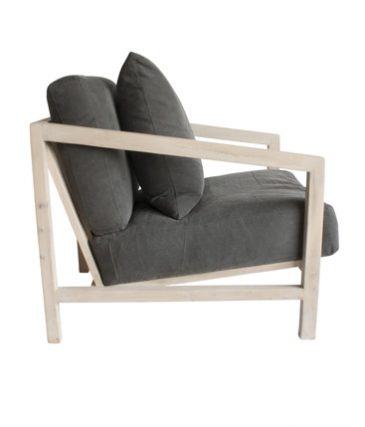timber armchair slate