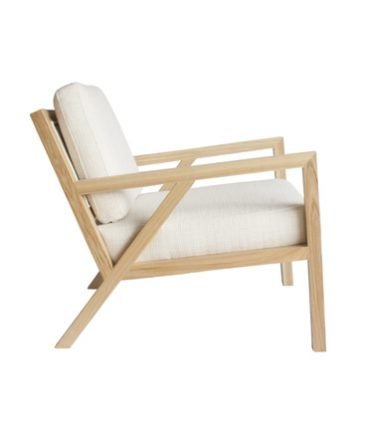 Ash framed occasional chair