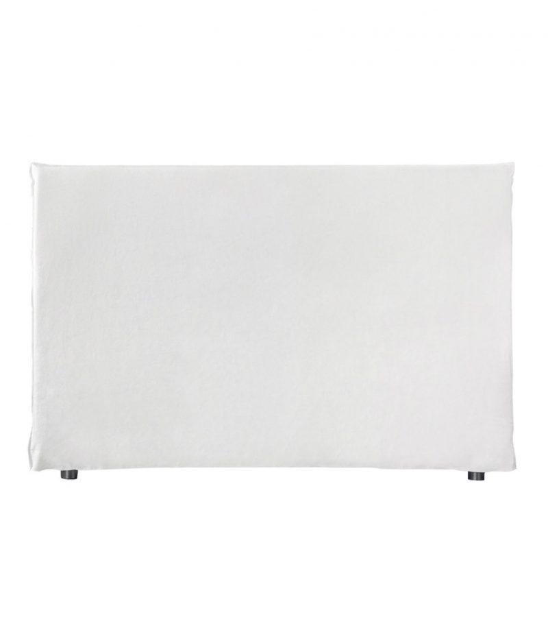 Linen cover bedhead Mist