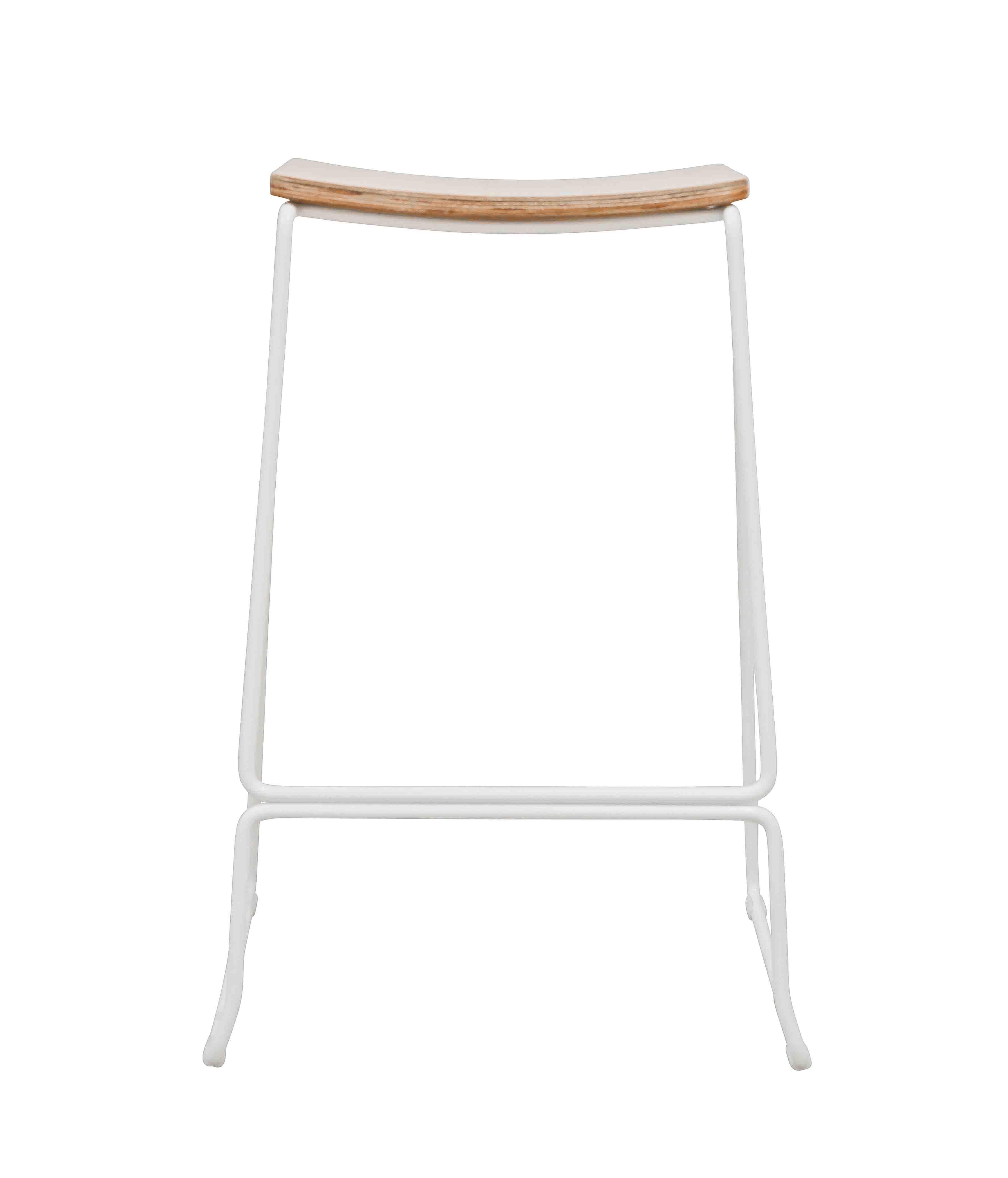 Oak Veneer bar stool white