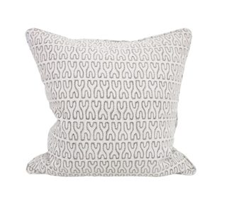 Nagari chalk linen cushion 50x50cm