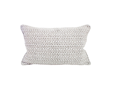 Nagari chalk linen cushion 35x55cm