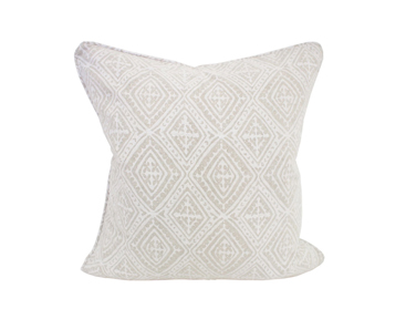 Havana chalk linen cushion 50x50cm