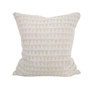Pyramids chalk linen cushion 50x50cm