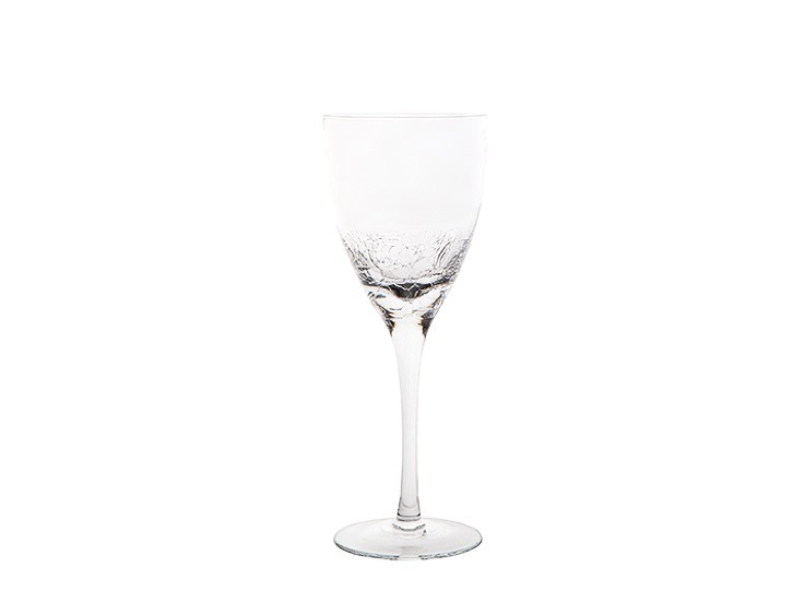 crackle white wine glass