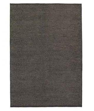 Herringbone Weave Rug – Charcoal/Limestone