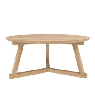 Oak Round Tripod Coffee table