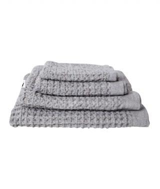 Waffle towel grey