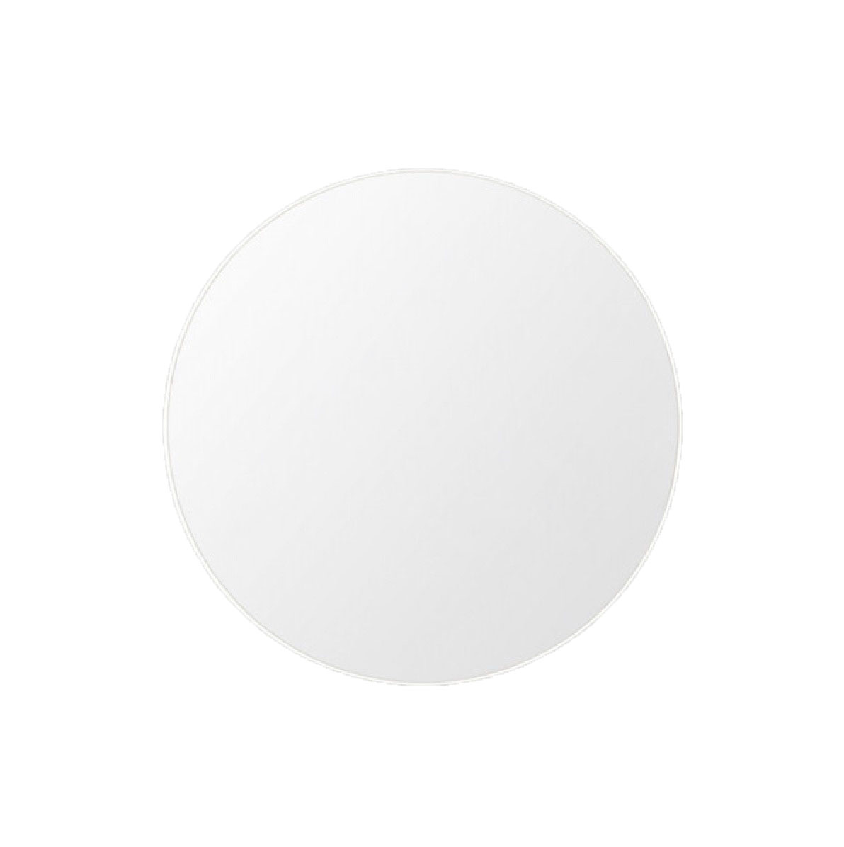 round mirror white