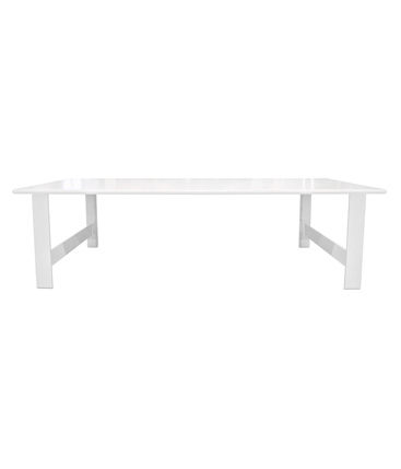 Solid American Oak Dining Table Matt white