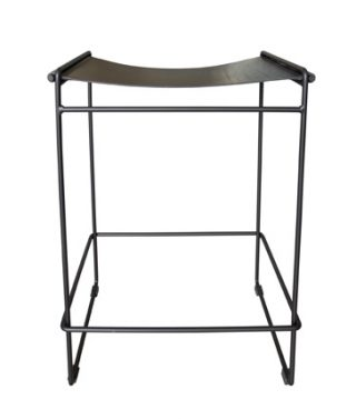 leather saddle High stool black