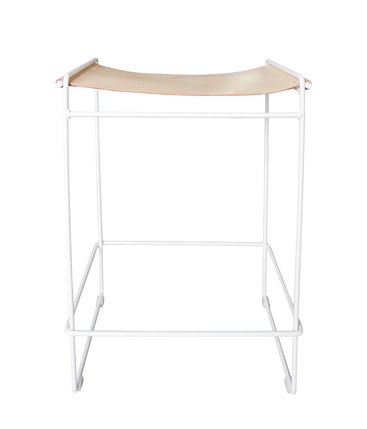 leather saddle High stool Nude