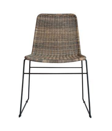 wicker chair white