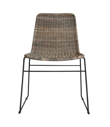 wicker chair greywash
