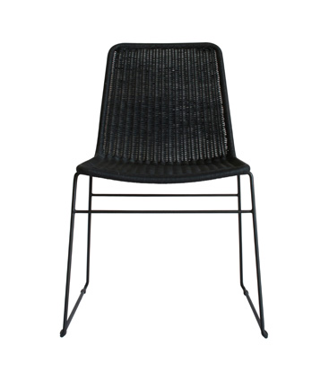 wicker chair Black