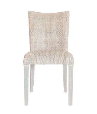 Rattan dining chair chalk