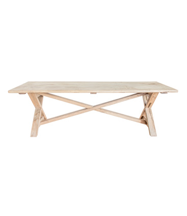 village recycled elm dining table