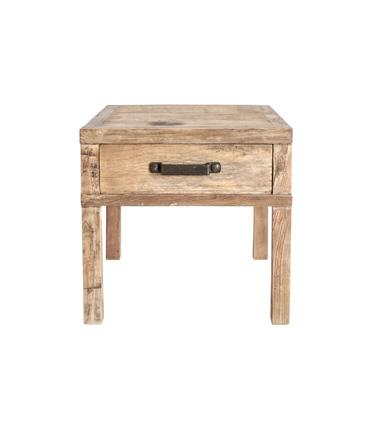 recycled elm 1-drawer bedside