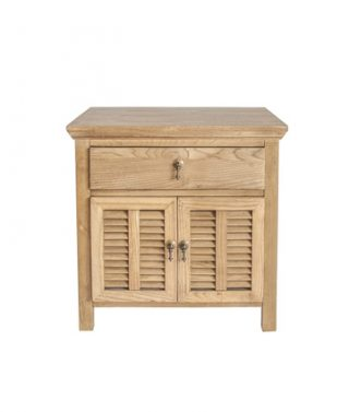 Elm 1-drawer 2 Door bedside