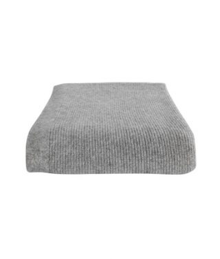 chain rib throw pale grey