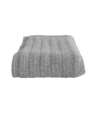 chunky rib throw pale grey