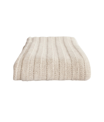 chunky rib throw wheat