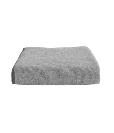 edge throw pale grey/charcoal