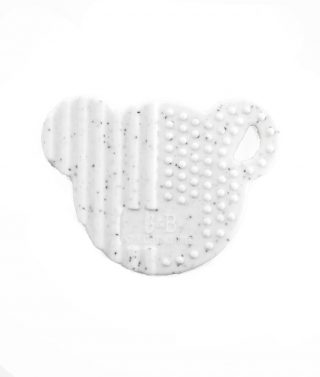 BEAR Silicone Teething Disc white