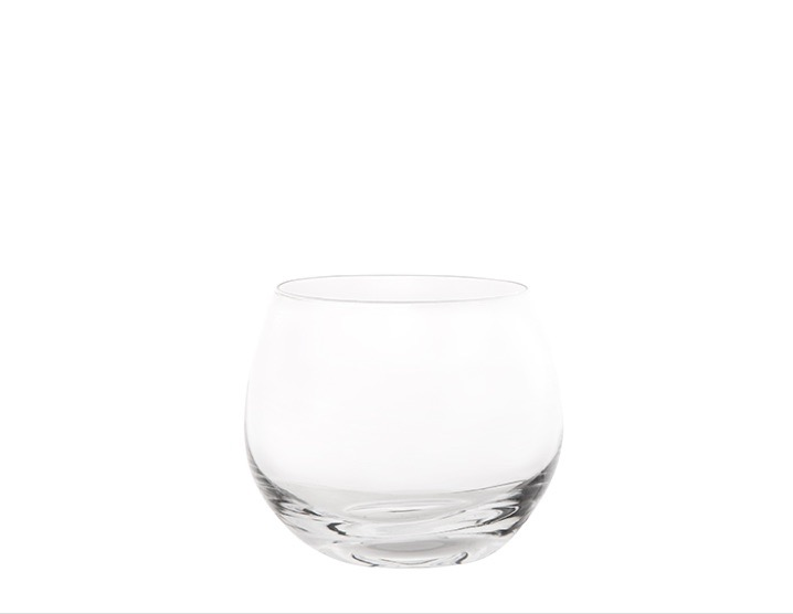 stemless water glass